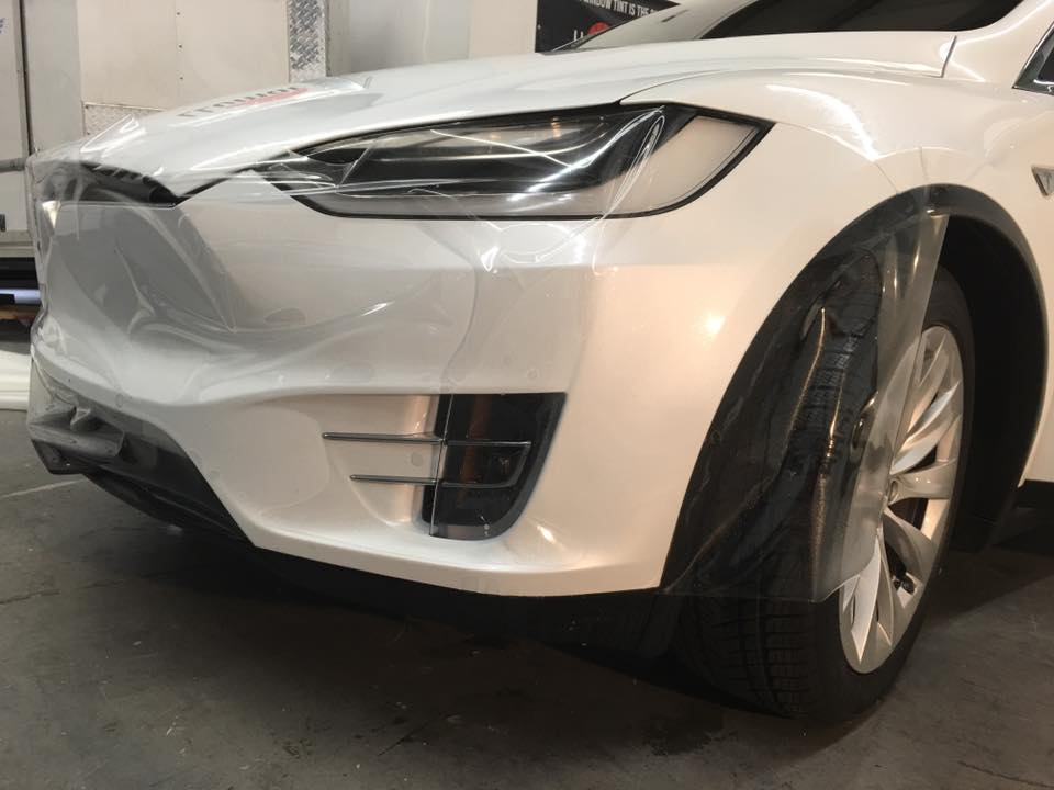Applying Paint Protection Film To A New Tesla Model X